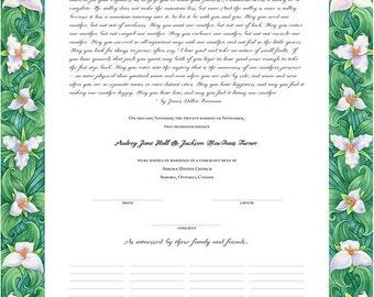 Trillium Marriage Certificate