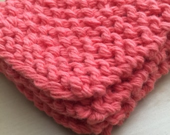 Hand-knit dishcloth
