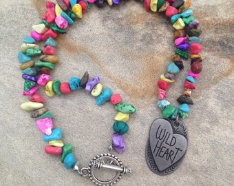 ON SALE! Wild heart necklace