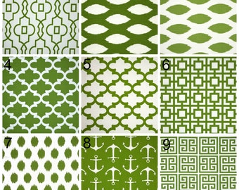 Accent Pillow Covers in Kelly Green by Premier Prints, Decorative Throw Cushions, Any Size, 18x18, 20x20, 22x22, 24x24, 26x26