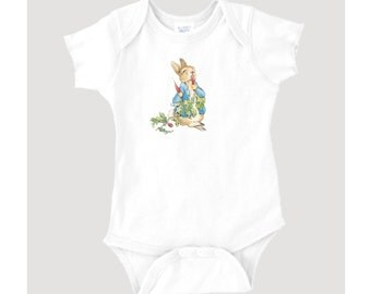 Beatrix Potter Peter Rabbit Illustration/Graphic on 100% Cotton Onesie