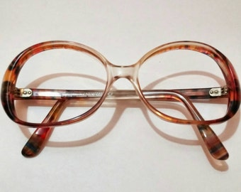 Vintage French glasses frames rainbow tortoise shell