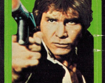1977 OPC O-Pee-Chee Star Wars Series 1 (Blue) Non Sport Trading Card Sticker Insert : #3 Han Solo