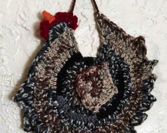 Crochet Potholder Chicken