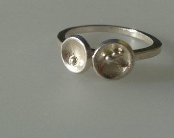 Sterling Silver Ring.  Sterling Silver Meteor Ring