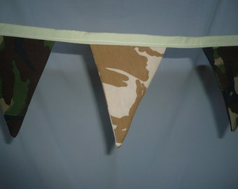 Ruby Lou's Recreations Army Camouflage 2m Bunting