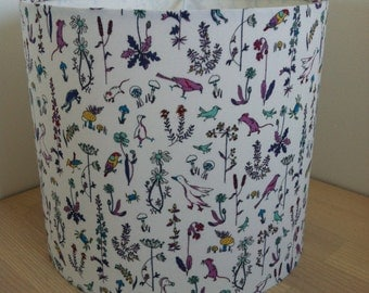 Handmade lampshade in a quirky Liberty print
