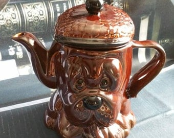 Vintage 1960's PRICE KENSINGTON pottery hound dog teapot!!! (International postage available!!!)