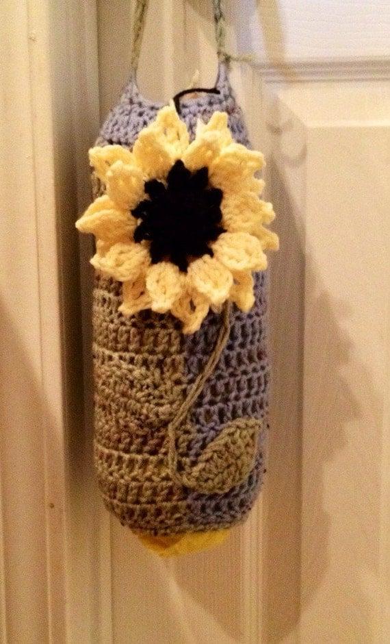 Crochet Pattern For Trash Bag Holder : Crocheted Plastic Bag Holder