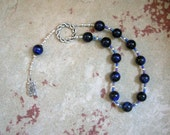 Ouranos (Uranus) Pocket Prayer Beads in Blue Tiger Eye: Ancient Greek God of the Sky, Consort of Gaia, Father of Titans