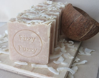 Coconut & Shea Butter Handmade Soap.  Made with coconut milk. Palm oil free soap.