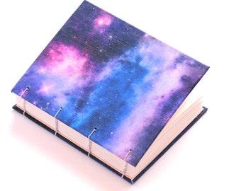 Galaxy textile handmade journal, notebook, sketchbook