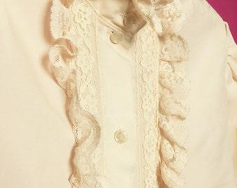 Ladies vintage Lacey blouse M/L