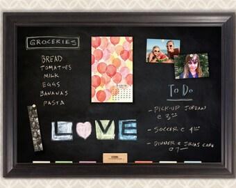 Provence Black Framed Magnetic Chalkboard