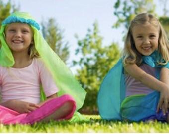 Waldorf Playsilk Set, Rainbow Play Silk Set, 6 Silk Squares 35 x 35 Inches, Playsilks