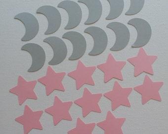 Moon and Stars die cut set of 24