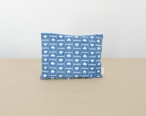 Graphic Blue pouch / 50% / 25 x 20 cm / screen printing / cotton