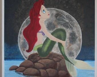 Little Mermaid Disney Acrylic Painting