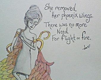 Formerly Phoenix by Dawn Merrow, 9x12