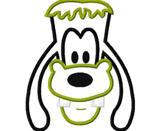 Character Inspired Goofy Frankie Embroidery Applique Design