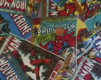 Marvel Comics 100% Cotton Fabric Fat Quarter 18x22 inches