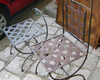 chair and stool iron
