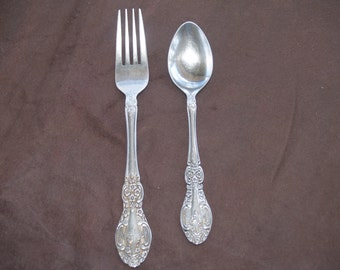 Springtime Stainless Fork and Spoon