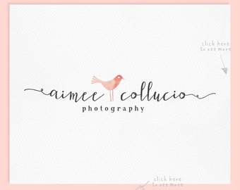 Premade Logo Design / Watercolor Logo / Photography Logo / Wedding Logo / Business Logo / Photography Watermrak