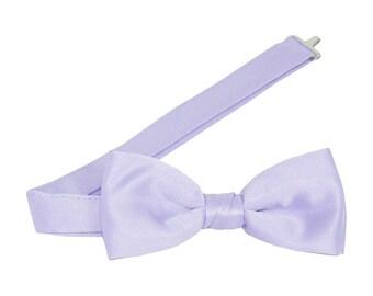 Lavendar Satin Banded Bow Tie
