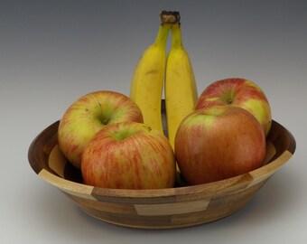 wood bowl, Decorative wood bowl, Turned wooden bowl, Segmented turning, Handmade wooden bowl, House warming gift, wood turning, wedding gift