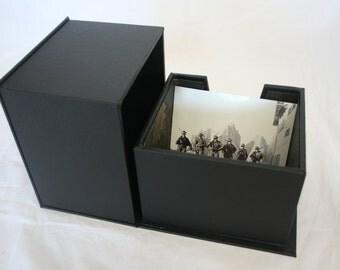 Handmade Print box / Memory box / keepsake box / clamshell box