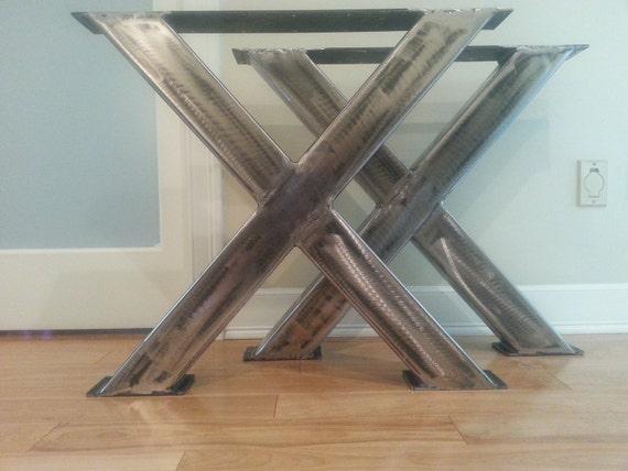 sleek x 3x1 metal table legs modern x metal by. Black Bedroom Furniture Sets. Home Design Ideas