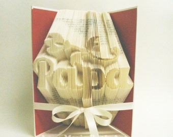 Papa Book Folding Pattern with Flower and Tutorial DIY 750 pages 375 folds Father's Day Gift - Please read listing PDF File Only