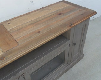 TV Stand, Entertainment Center, Reclaimed Wood, Media Console, Handmade, Rustic, Console Cabinet