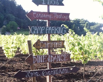 Wedding Directional Signs, Wedding Signs, Beach Wedding, Vineyard Wedding, Rustic Wedding, Boho Wedding, Outdoor Wedding, Barn Wedding