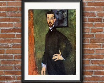 Amedeo Modigliani - Portrait de Paul Alexandre, Italian Art, Vintage Italian Posters, Modigliani Art, Fine Art Painting Art Reproduction
