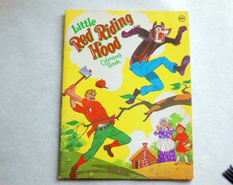 Vintage Little Red Riding Hood Coloring Book - Unused
