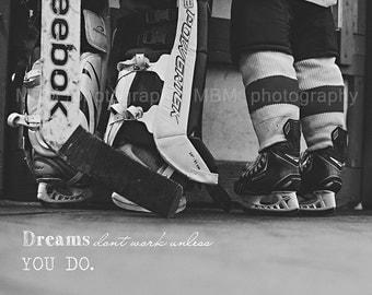 8x10 Dreams Hockey Print