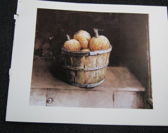 Pumpkins in a Basket, by Hubert Shuptrine