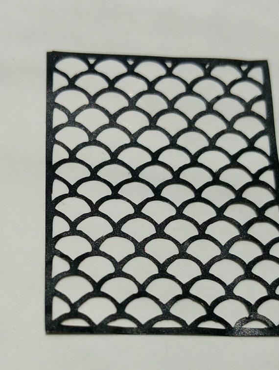 Vinyl nail stencils houndstooth moroccan zebra animal for Fish scale stencil