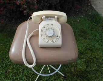 Beige Western Electric Bell Rotary Telephone