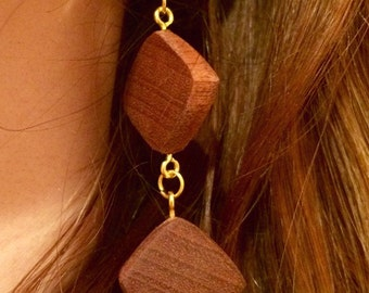 Earrings Sapele (wood)