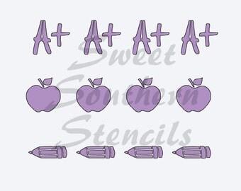Teacher Cookie Stick Stencil