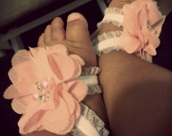 Handmade baby footless sandals