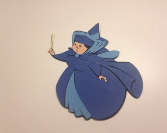 Merryweather Fairy die cut from the movie Sleeping Beauty