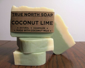 Coconut Lime Soap - All natural soap, handmade soap, coconut milk soap, essential oil soap.
