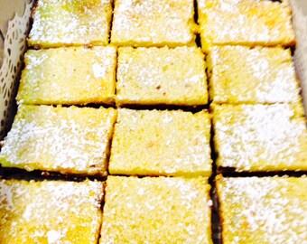 Gluten-Free Lemon Bars, Gluten-Free Goodies, Reduced Calories Lemon Bars, Mrs. C's Lemon Bars, Magical Lemon Bars, Taste of Heaven