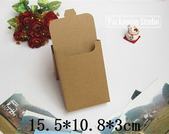 Kraft Gift Postcard Package Boxes Phone Shell Packaging Paper Boxes 50 pieces