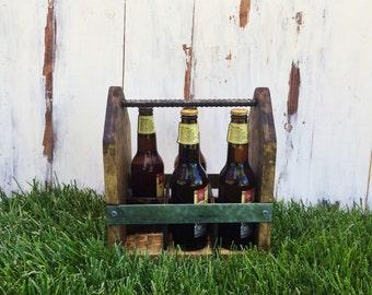 Rustic Wooden Beer Carrier