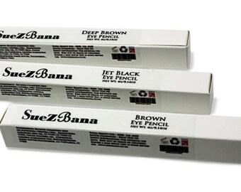 Vegan Natural Eyeliners in Black and  Brown  (4g/0.14oz) Organic